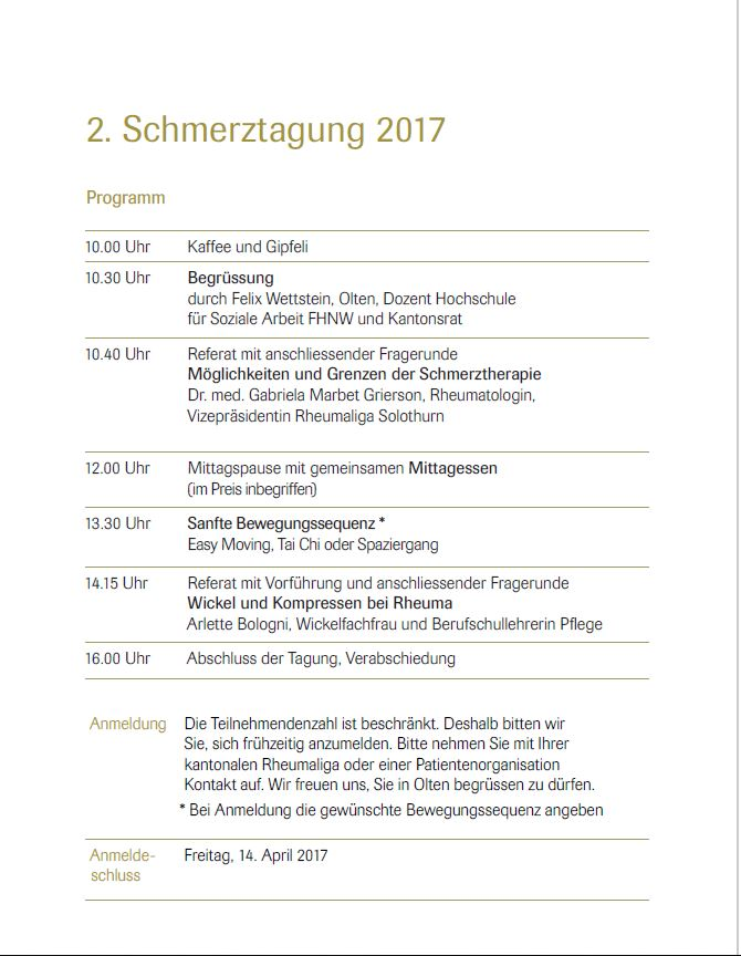 Nationale Schmerztagung 2017 2